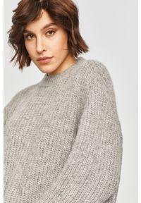 Szary sweter Answear Lab z długim rękawem, melanż