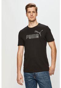 Czarny t-shirt Puma na co dzień, casualowy