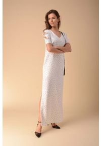 Sukienka wizytowa Nommo maxi, w kropki, prosta