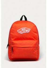 Vans - Plecak. Kolor: pomarańczowy. Wzór: aplikacja