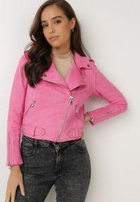 Born2be - Różowa Ramoneska Lilah. Kolor: różowy
