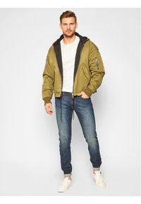 Lee Jeansy Slim Fit Luke L719PXDA Granatowy Slim Fit. Kolor: niebieski. Materiał: jeans