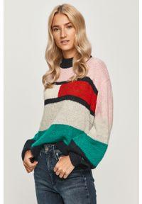 Wielokolorowy sweter Tommy Jeans z okrągłym kołnierzem