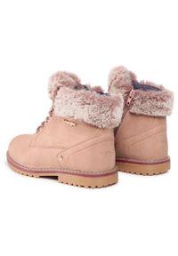 Różowe buty zimowe Wrangler z cholewką