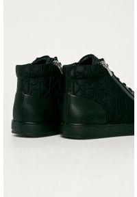 Calvin Klein - Buty. Nosek buta: okrągły. Zapięcie: sznurówki. Kolor: czarny. Materiał: guma
