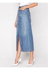 Niebieska spódnica jeansowa Victoria Victoria Beckham