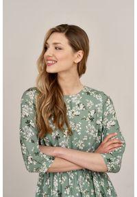 Marie Zélie - Sukienka Livia Bibianna. Materiał: bawełna, wiskoza, materiał, tkanina, skóra. Długość rękawa: krótki rękaw