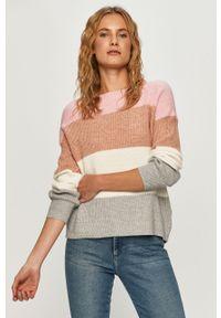 Różowy sweter only na co dzień, casualowy