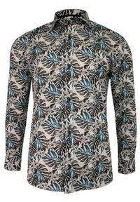 Wielokolorowa elegancka koszula Grzegorz Moda Męska do pracy, długa, z długim rękawem