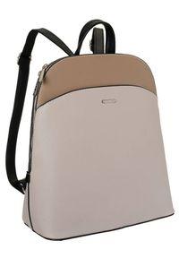 DAVID JONES - Plecak miejski beżowy David Jones 6509-1 BEIGE. Kolor: beżowy. Materiał: skóra ekologiczna