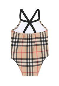 BURBERRY CHILDREN - Jednoczęściowy strój w kratkę 0-2 lat. Kolor: beżowy. Materiał: materiał. Wzór: kratka