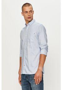 Niebieska koszula Jack & Jones button down, casualowa