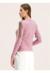 Różowy sweter klasyczny Patrizia Pepe