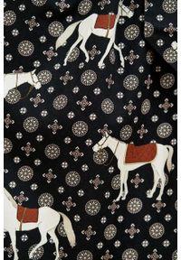 Marie Zélie - Sukienka Leandra Ponnie. Typ kołnierza: kokarda. Materiał: bawełna, wiskoza, tkanina, materiał. Długość rękawa: długi rękaw
