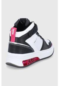 Karl Lagerfeld - Buty Elektra. Nosek buta: okrągły. Zapięcie: rzepy. Kolor: biały. Szerokość cholewki: normalna. Obcas: na platformie