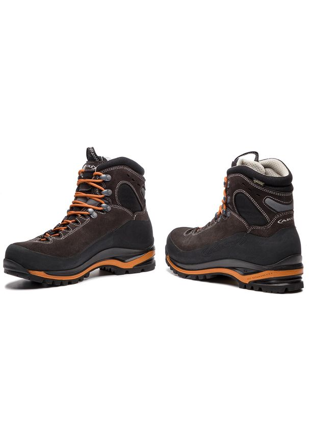 Czarne buty trekkingowe Aku trekkingowe, Gore-Tex, z cholewką