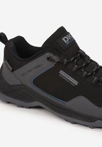 Born2be - Czarno-Szare Buty Sportowe Phaliphaia. Wysokość cholewki: przed kostkę. Nosek buta: okrągły. Zapięcie: sznurówki. Kolor: czarny. Materiał: nubuk, materiał, guma. Szerokość cholewki: normalna. Sport: turystyka piesza