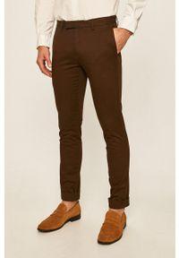 Polo Ralph Lauren - Spodnie. Kolor: brązowy. Materiał: tkanina. Wzór: gładki