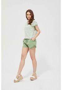 Zielone szorty MOODO w koronkowe wzory, krótkie