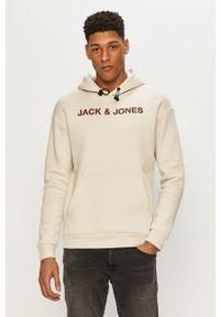 Szara bluza nierozpinana Jack & Jones gładkie, na co dzień
