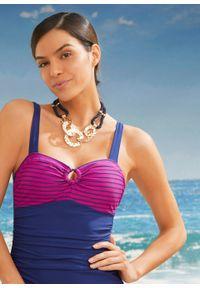 Kostium kąpielowy shape Level 3 bonprix ciemnoniebiesko-fuksja. Kolor: niebieski