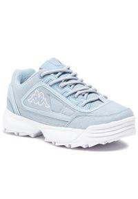 Kappa - Sneakersy KAPPA - Rave Sun 242871 Ice/White 6510. Okazja: na co dzień. Kolor: niebieski. Materiał: materiał. Szerokość cholewki: normalna. Sezon: lato. Styl: casual