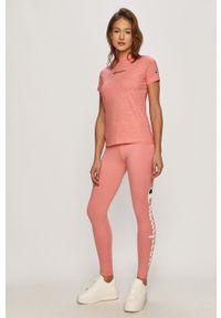 Różowe legginsy Champion z nadrukiem