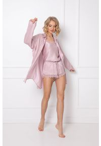 Aruelle - Piżama Lucy. Kolor: różowy. Materiał: koronka