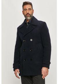 Niebieski płaszcz TOMMY HILFIGER na co dzień, bez kaptura, casualowy