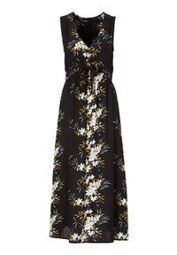 Czarna sukienka Happy Holly w kwiaty