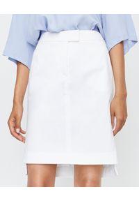 FAY - Biała spódnica mini. Kolor: biały. Materiał: elastan, materiał, bawełna. Styl: elegancki, klasyczny