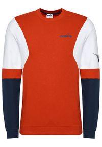 Diadora Bluza Crew Club 102.177052 Czerwony Comfort Fit. Kolor: czerwony