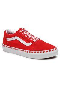 Czerwone półbuty Vans
