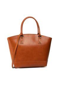 Brązowa torebka klasyczna Creole klasyczna, skórzana