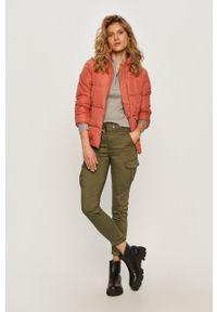 DKNY - Dkny - Sweter. Kolor: szary. Materiał: dzianina, materiał. Długość rękawa: długi rękaw. Długość: krótkie