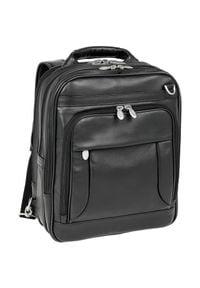 MCKLEIN - Skórzany plecak z odpinanymi ramionami, torba na laptopa Mcklein Lincoln Park 41655. Kolor: czarny. Materiał: skóra. Styl: biznesowy, klasyczny, elegancki