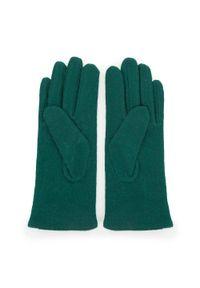 Zielone rękawiczki Wittchen na zimę, z aplikacjami