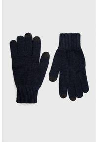 BOSS - Boss - Rękawiczki. Kolor: niebieski