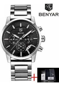 Zegarek BENYAR Royal Steel Czarny (BY5104S). Kolor: czarny