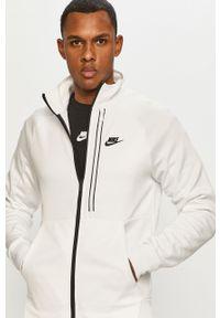 Biała bluza rozpinana Nike Sportswear casualowa, bez kaptura, gładkie