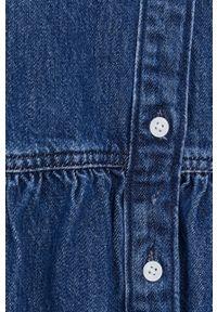 Levi's® - Levi's - Sukienka jeansowa. Okazja: na spotkanie biznesowe. Kolor: niebieski. Materiał: jeans. Długość rękawa: długi rękaw. Wzór: gładki. Typ sukienki: rozkloszowane. Styl: biznesowy