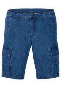 """Bermudy dżinsowe w wygodnym fasonie ze stretchem, Regular Fit bonprix niebieski """"stone"""". Kolor: niebieski"""