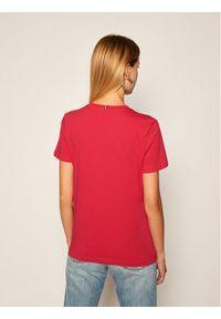 Różowy t-shirt TOMMY HILFIGER