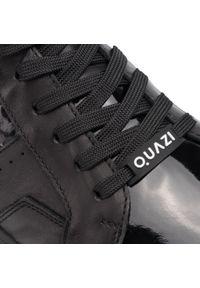 Sneakersy QUAZI - QZ-01-03-000267 601. Okazja: na co dzień. Kolor: czarny. Materiał: skóra, lakier. Szerokość cholewki: normalna. Styl: klasyczny, casual