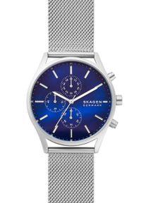 Skagen - Zegarek SKW6652. Kolor: srebrny. Materiał: materiał