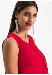 Sukienka szyfonowa bonprix czerwony. Kolor: czerwony. Materiał: szyfon