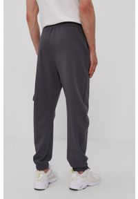 Diadora - Spodnie. Okazja: na co dzień. Kolor: szary. Materiał: dzianina, bawełna. Styl: casual