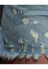 ONETEASPOON - Szorty z przetarciami Bonita. Stan: podwyższony. Kolor: niebieski. Materiał: jeans, materiał. Wzór: aplikacja. Styl: klasyczny