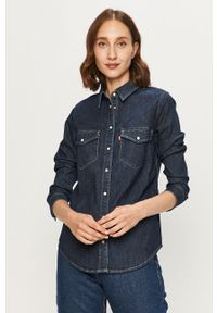 Niebieska koszula Levi's® do pracy, biznesowa, z klasycznym kołnierzykiem, długa