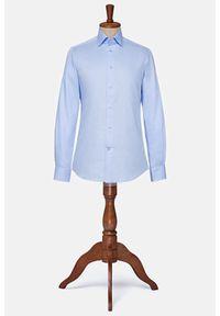 Lancerto - Koszula Błękitna Saratoga. Typ kołnierza: button down. Kolor: niebieski. Materiał: bawełna, tkanina. Styl: vintage, elegancki